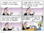 Cartoonist Joel Pett  Joel Pett's Editorial Cartoons 2001-09-02 income inequality