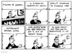Cartoonist Joel Pett  Joel Pett's Editorial Cartoons 2002-02-08 retirement