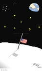 Cartoonist Joel Pett  Joel Pett's Editorial Cartoons 2003-02-02 flag