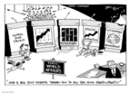 Cartoonist Joel Pett  Joel Pett's Editorial Cartoons 2008-09-29 extinct animal