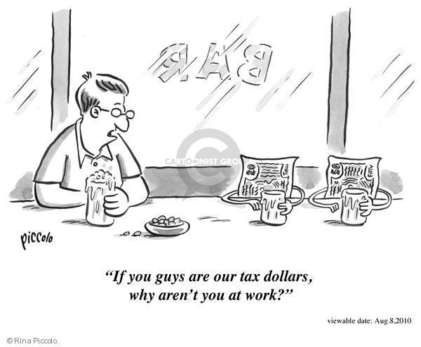 Cartoonist Rina Piccolo  Rina Piccolo's Panel Cartoons 2010-08-08 tax