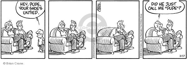 Comic Strip Brian Crane  Pickles 2008-03-17 untie
