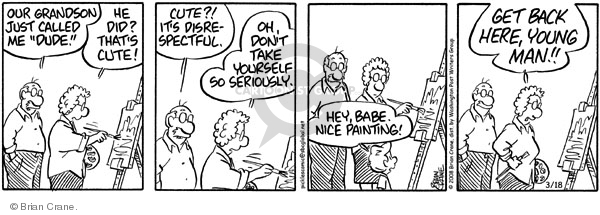 Comic Strip Brian Crane  Pickles 2008-03-18 young