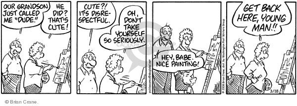 Comic Strip Brian Crane  Pickles 2008-03-18 grandchild