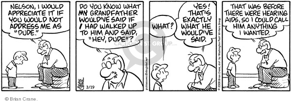 Comic Strip Brian Crane  Pickles 2008-03-19 disrespect