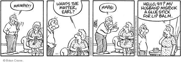 Comic Strip Brian Crane  Pickles 2008-12-01 emergency