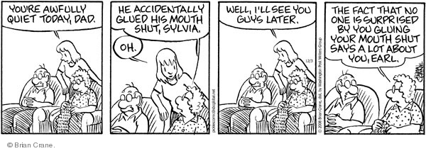 Comic Strip Brian Crane  Pickles 2008-12-03 accident