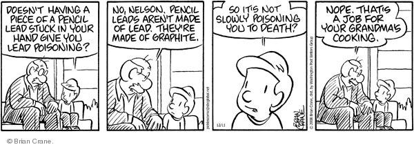 Comic Strip Brian Crane  Pickles 2008-12-11 bad boy