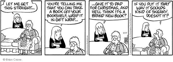 Cartoonist Brian Crane  Pickles 2008-12-17 bookshelf