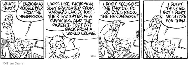 Comic Strip Brian Crane  Pickles 2008-12-19 married couple