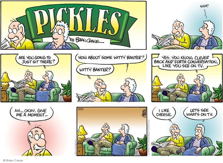 Comic Strip Brian Crane  Pickles 2008-12-21 married couple