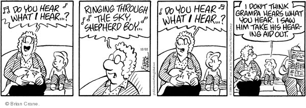 Comic Strip Brian Crane  Pickles 2008-12-22 hear
