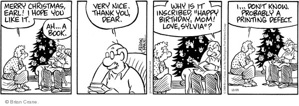 Comic Strip Brian Crane  Pickles 2008-12-25 birthday gift
