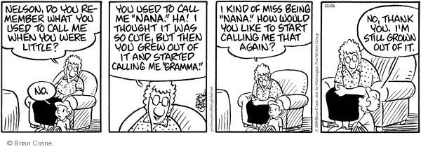 Comic Strip Brian Crane  Pickles 2008-12-26 grandchild