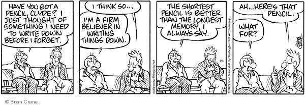Comic Strip Brian Crane  Pickles 2009-01-06 loss
