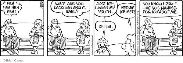 Cartoonist Brian Crane  Pickles 2009-01-16 reminiscence