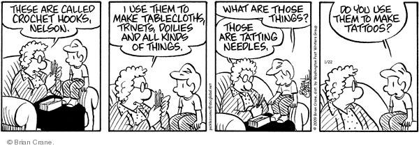 Comic Strip Brian Crane  Pickles 2009-01-22 needlework