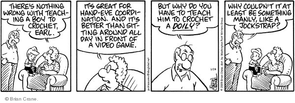 Comic Strip Brian Crane  Pickles 2009-01-24 husband