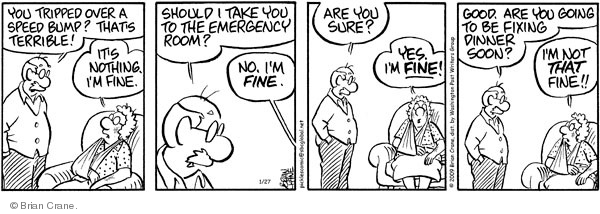 Comic Strip Brian Crane  Pickles 2009-01-27 husband
