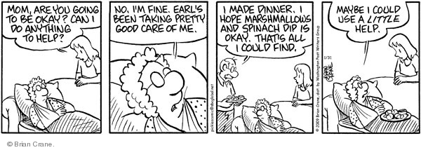 Comic Strip Brian Crane  Pickles 2009-01-31 husband