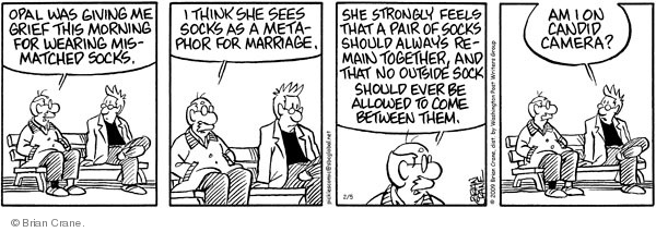 Comic Strip Brian Crane  Pickles 2009-02-05 bond