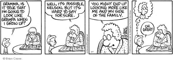 Comic Strip Brian Crane  Pickles 2009-02-07 grandson