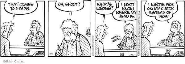 Comic Strip Brian Crane  Pickles 2009-02-09 forgetfulness