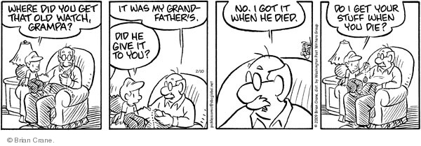 Comic Strip Brian Crane  Pickles 2009-02-10 grandson