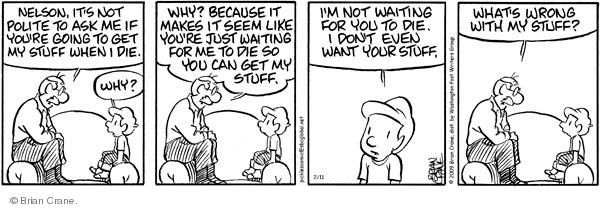 Comic Strip Brian Crane  Pickles 2009-02-11 grandson