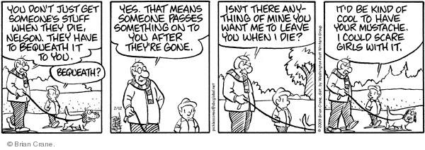 Comic Strip Brian Crane  Pickles 2009-02-12 grandson