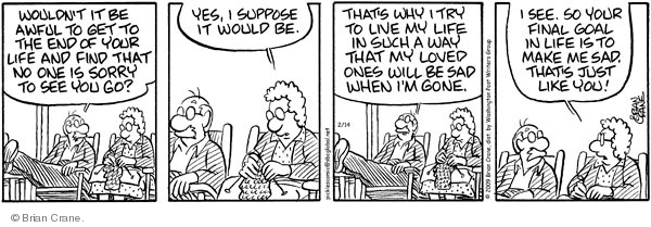 Comic Strip Brian Crane  Pickles 2009-02-14 married couple