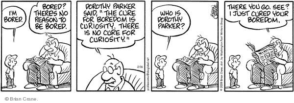Comic Strip Brian Crane  Pickles 2009-02-16 grandson