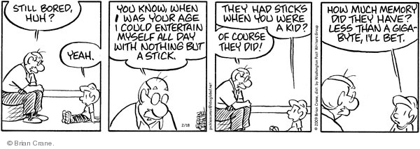 Comic Strip Brian Crane  Pickles 2009-02-18 grandson