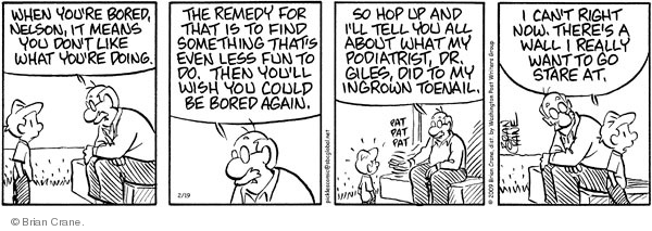 Comic Strip Brian Crane  Pickles 2009-02-19 medical