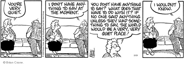 Comic Strip Brian Crane  Pickles 2009-02-23 married couple