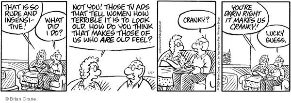 Comic Strip Brian Crane  Pickles 2009-02-27 married couple