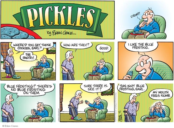 Comic Strip Brian Crane  Pickles 2009-03-01 frosting