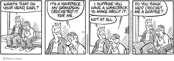 Comic Strip Brian Crane  Pickles 2009-03-03 needlework