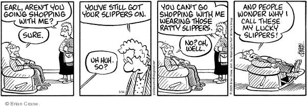 Comic Strip Brian Crane  Pickles 2009-03-16 slipper