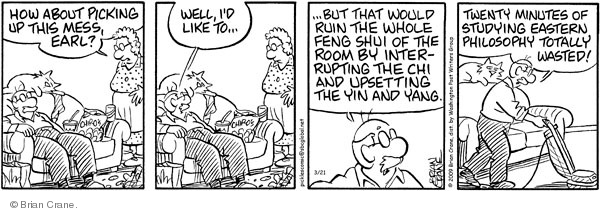 Comic Strip Brian Crane  Pickles 2009-03-21 ruin