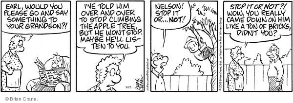 Comic Strip Brian Crane  Pickles 2009-03-25 over