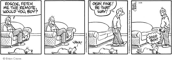 Comic Strip Brian Crane  Pickles 2009-03-28 dog training