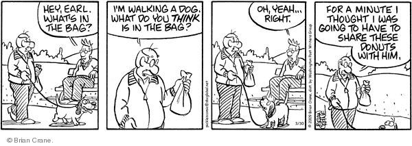 Comic Strip Brian Crane  Pickles 2009-03-30 dog park