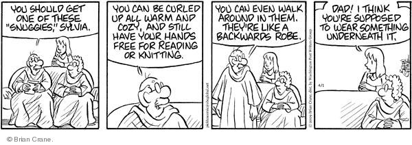 Comic Strip Brian Crane  Pickles 2009-04-01 comfortable clothes