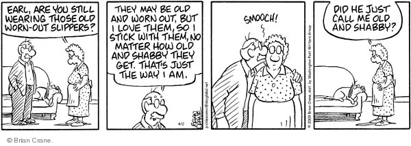 Comic Strip Brian Crane  Pickles 2009-04-02 smooch