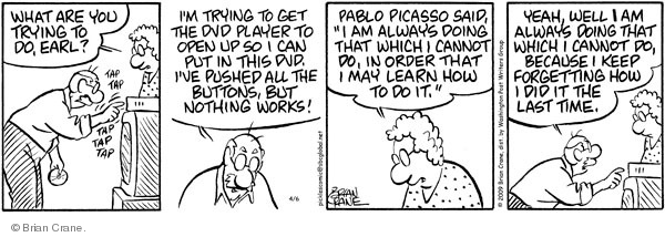 Comic Strip Brian Crane  Pickles 2009-04-06 forgetfulness