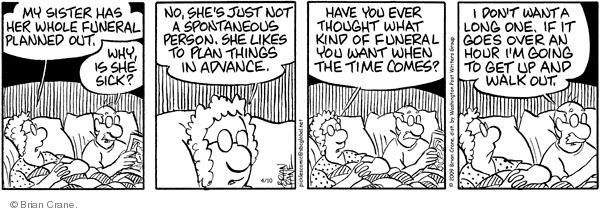 Comic Strip Brian Crane  Pickles 2009-04-10 bedtime
