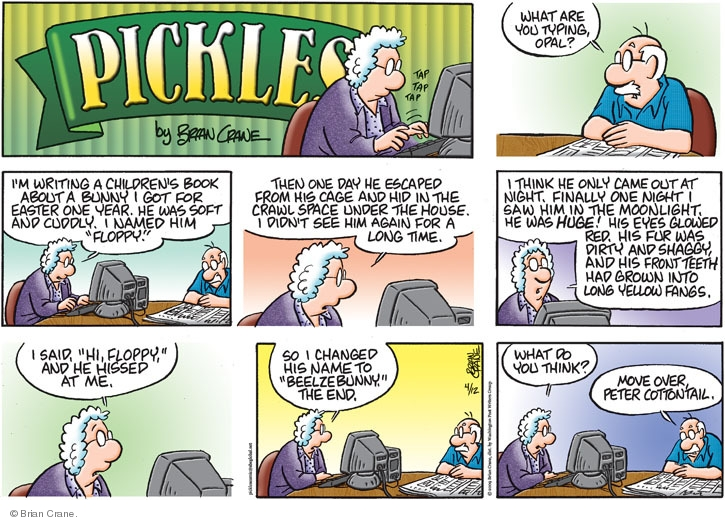 Comic Strip Brian Crane  Pickles 2009-04-12 scary