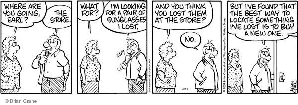 Comic Strip Brian Crane  Pickles 2009-04-13 lose