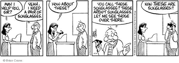 Comic Strip Brian Crane  Pickles 2009-04-14 design